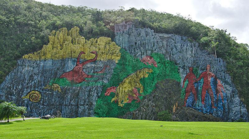 Bức tranh khổng lồ thời tiền sử thung lũng Vinales