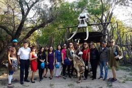 Đoàn khách cuae Vietglobal Travel tại Làng văn hóa Lesedi