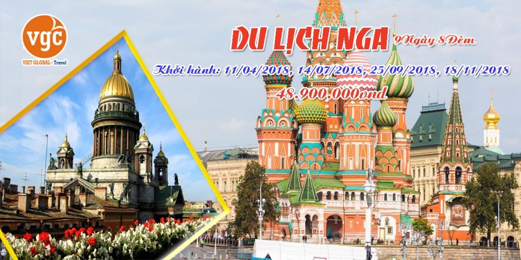 Du Lịch  Nga 2018: Hà Nội – Moscow – Saint Peterburg 9N8Đ. KH: 11/04, 14/07, 25/09, 18/11