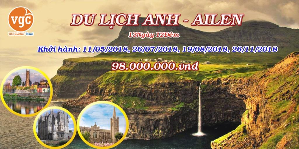 Du lịch Anh - Ailen 2019 : Dublin - Claremorris - Galway - Limerick - Killarney - Waterford 13N12Đ KH: 26.11.2019