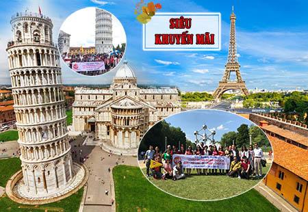 Du Lịch Châu Âu 6 nước Siêu Khuyến Mãi 2019: Pháp - Bỉ - Hà Lan - Đức -Thụy Sỹ - Ý  KH:  07.05.2019 / 12.12.2019
