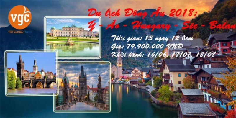 Du lịch Châu Âu đặc biệt 2018: Ý - Áo - Hungary - Séc - Balan 13N12Đ KH: 16/06; 17/07, 18/08