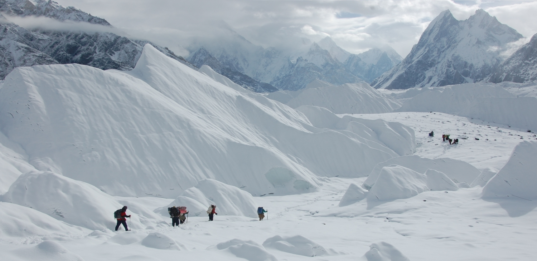 Batura glacier.