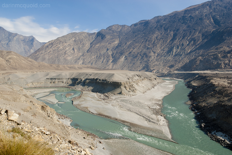 The confluence of the Indus River & Gilgit