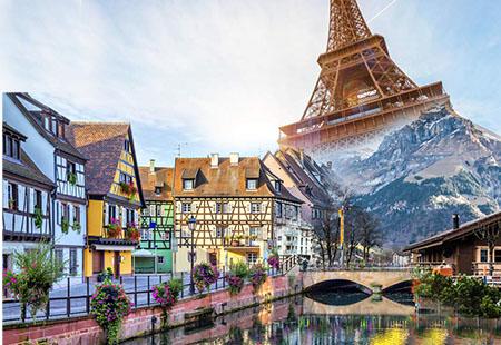 """Cung đường đẹp nhất Châu Âu """"Đông tây âu kết hợp Pháp – Thụy Sĩ– Đức- Áo – Hungary – Séc : Paris – Reims– Strasbourg -Colmar – Zurich – Munich – Salzburg – Vienna – Budapest – Prague""""12 N9 Đ KH:: 28/06 , 15/07, 1/8&25/10/2019"""
